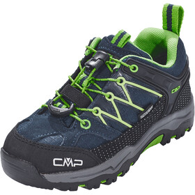 CMP Campagnolo Kids Rigel Low WP Trekking Shoes Black Blue-Gecko